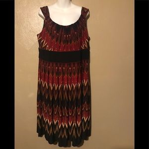 Dress barn dress size 18, multicolored polyester
